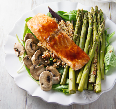 Barbecue Salmon and Quinoa