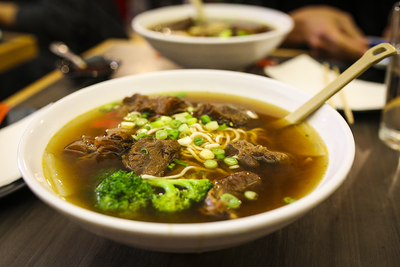 Orange Broccoli Beef with Ramen Noodles